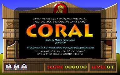 Mataya Home Page - Coral game